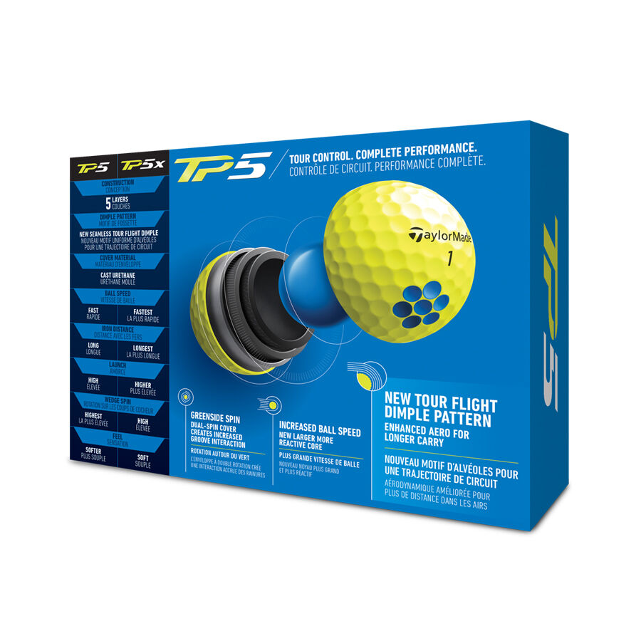 TP5 Yellow Golf Balls image number 2